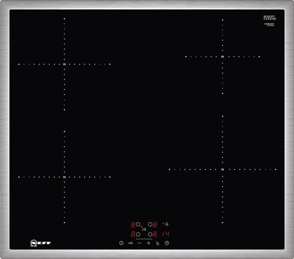 Neff TBB3640N ( T36BB40N1 ) Induktions-Kochfeld autark mit TouchControl Bedienung