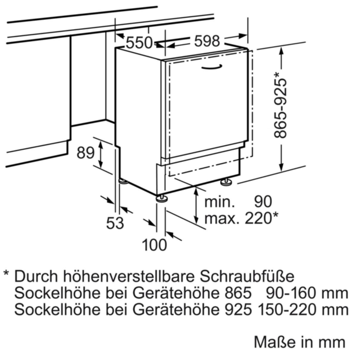 Neff GX3600G ( S523G60X0E ) Geschirrspüler 60 cm Vollintegrierbar ...