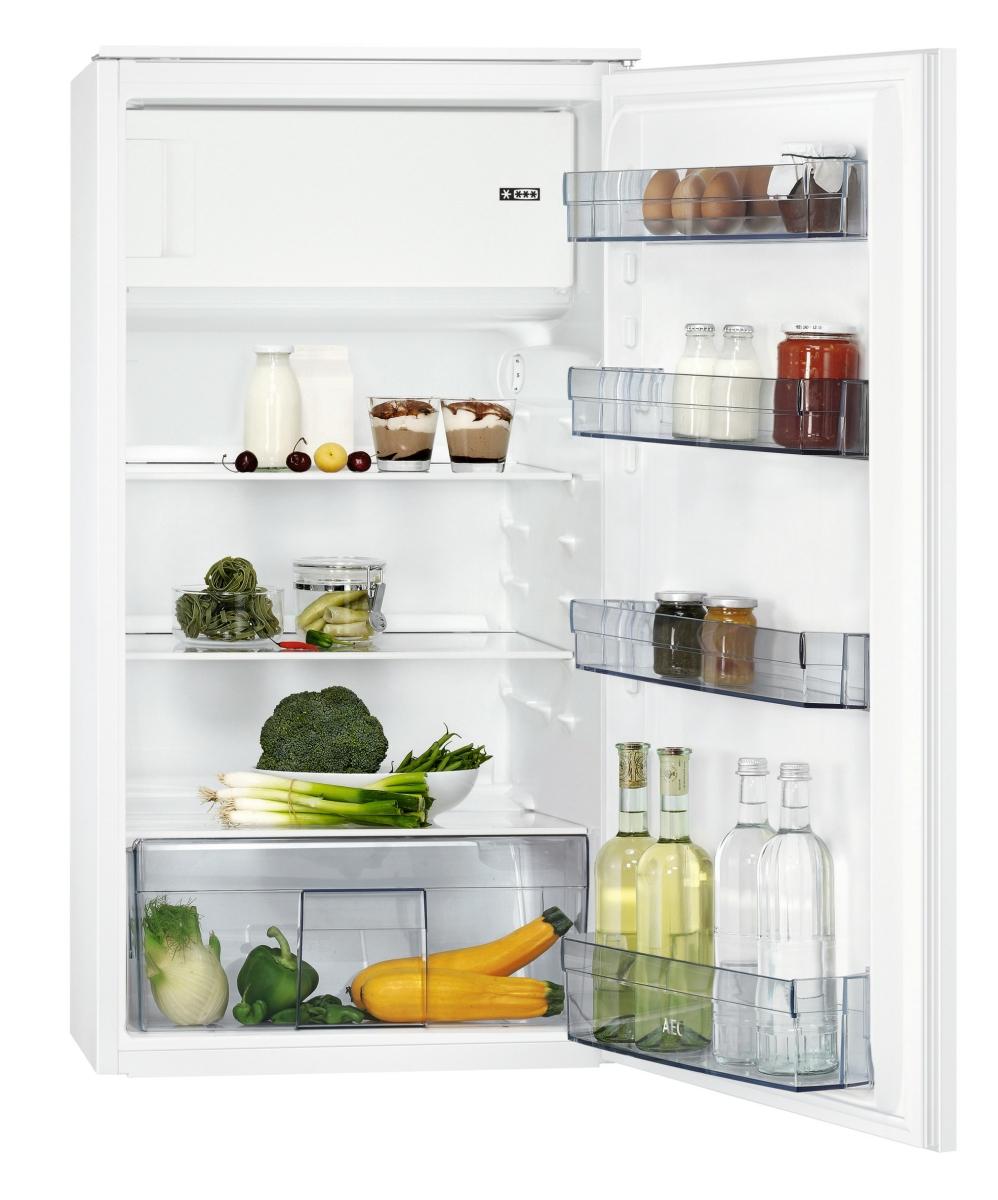 AEG SFB41011ASEinbaukühlschrank mit Gefrierfach, 103cm Nischenhöhe, Schlepptür-Technik