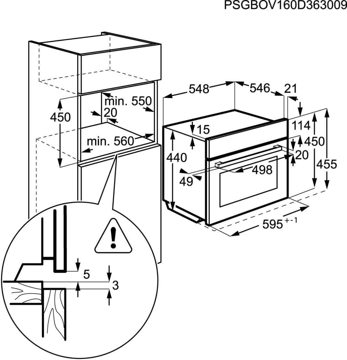 aeg ksk782220m kompakt backofen 45cm hoch g nstig kaufen. Black Bedroom Furniture Sets. Home Design Ideas