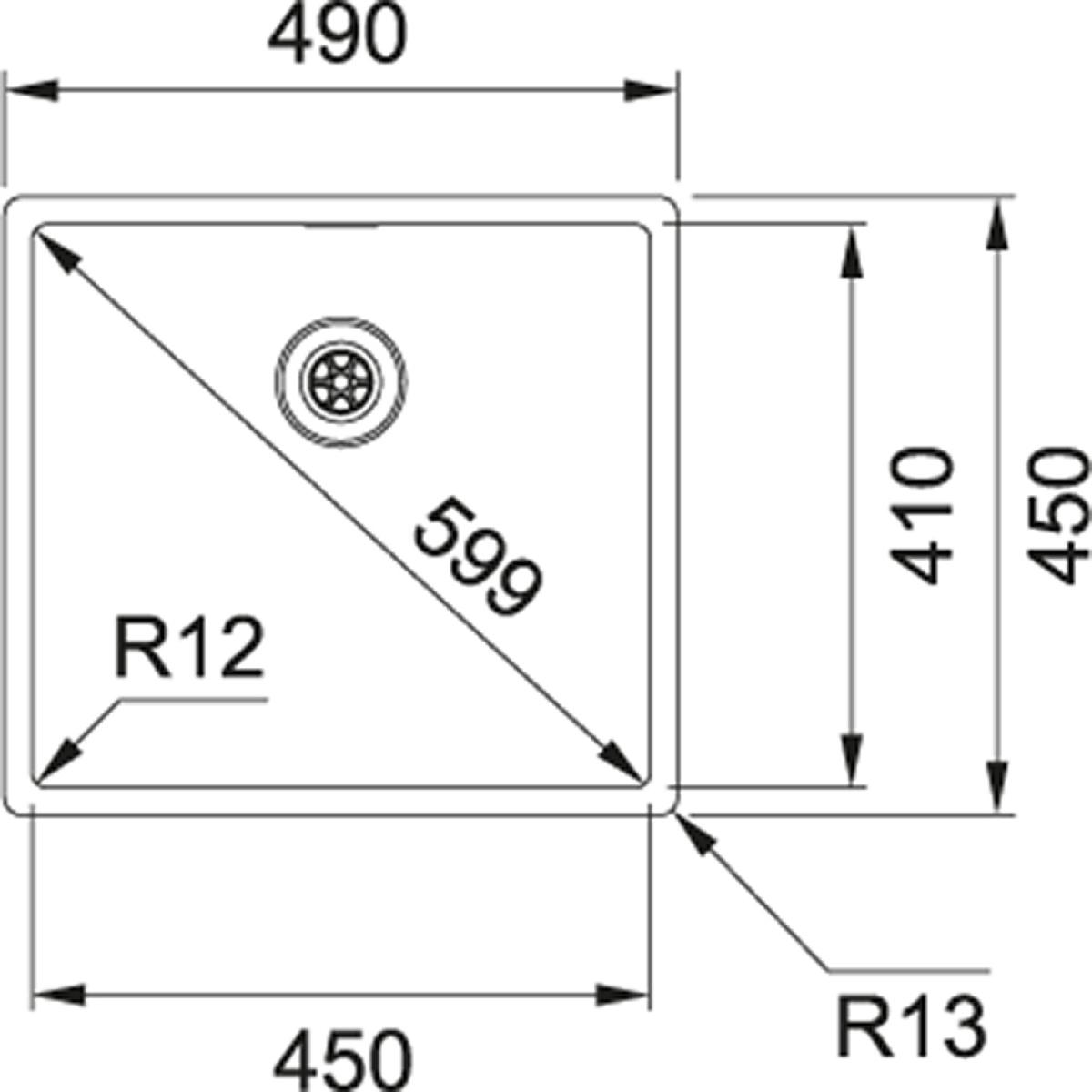 franke box bxx210 45 druckknopf ventil g nstig kaufen. Black Bedroom Furniture Sets. Home Design Ideas