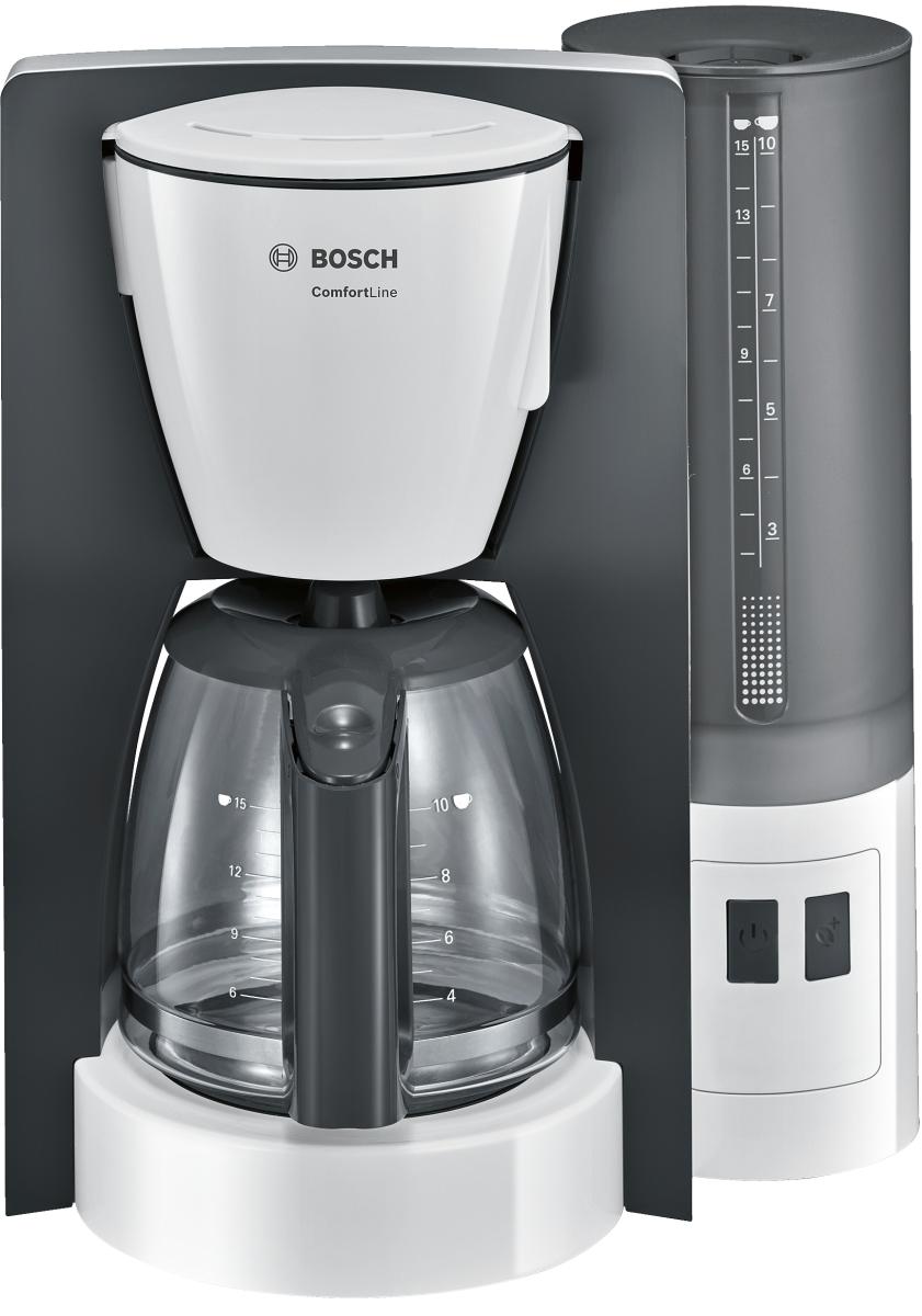 Bosch TKA6A041 ComfortLine Filterkaffeemaschine Kunststoff weiß/ dunkelgrau