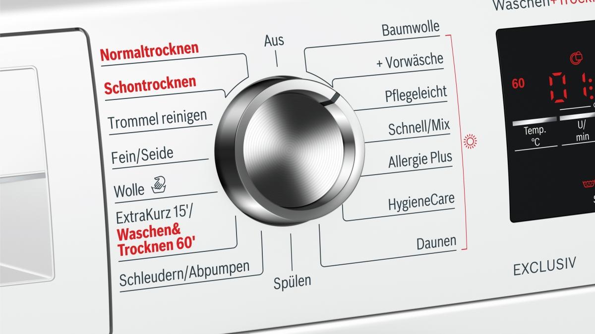 Bosch wvg exclusiv mk stand waschtrockner eek a kg