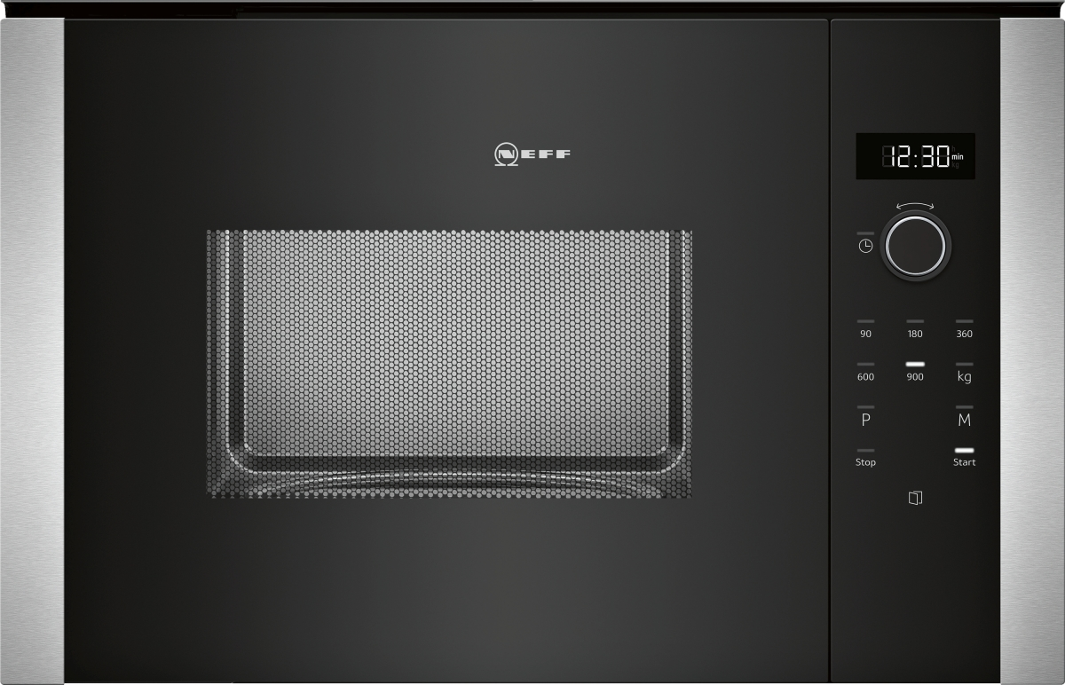Neff HWB53 (HLAWD53N0) Einbau-Mikrowelle schwarz für 60cm breite u.38cm hoheHochschränke