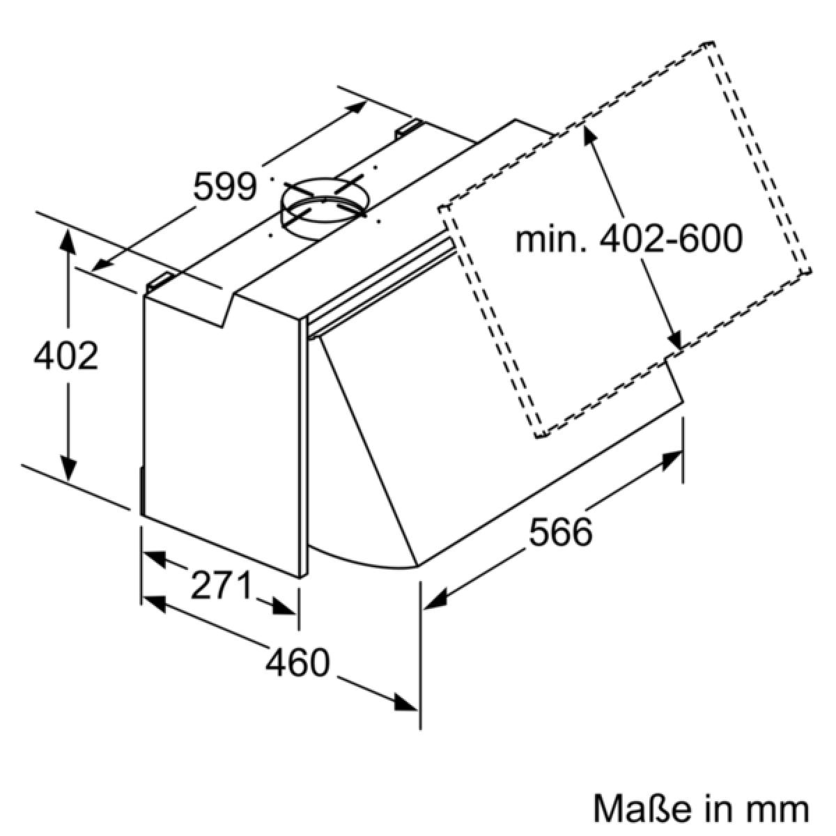 neff dmac611x d61mac1x0 zwischenbauhaube silber 60 cm. Black Bedroom Furniture Sets. Home Design Ideas