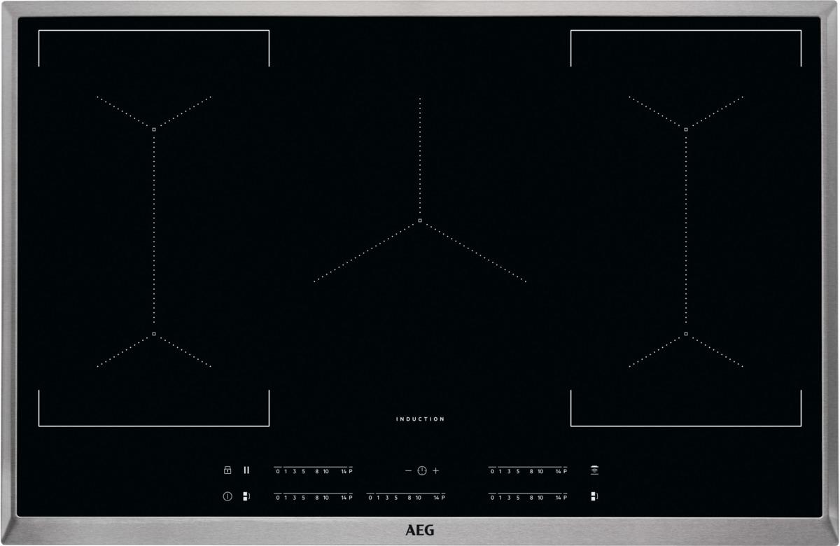 AEG IKE85451XB Kochfeld Induktion 5-fach MaxiSense Plus Edelstahlrahmen 80 cm