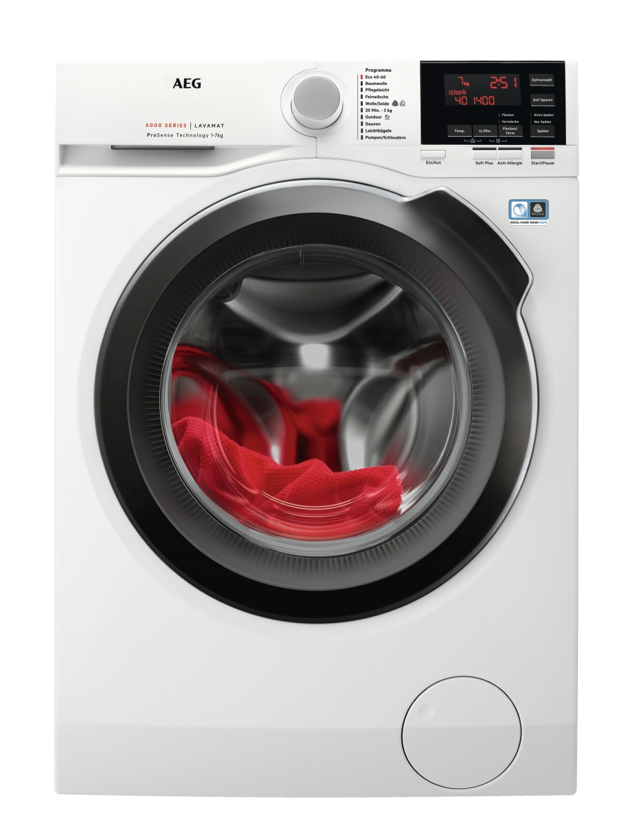 AEG LAVAMAT L6FB64479Stand-Waschmaschine-Front 7kg 1400U/min Invertermotor
