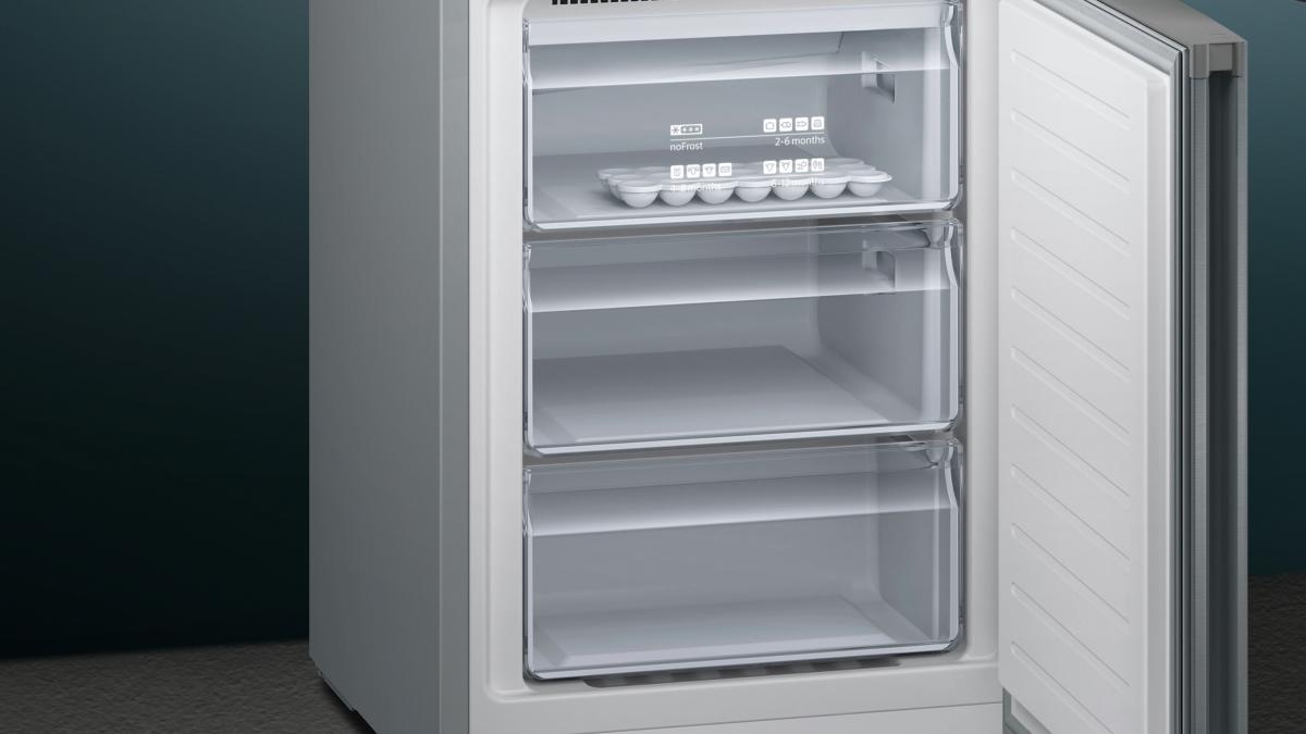Siemens Kühlschrank Gefrierkombi : Siemens kg nvl a kühl gefrier kombi türen edelstahl look nofrost