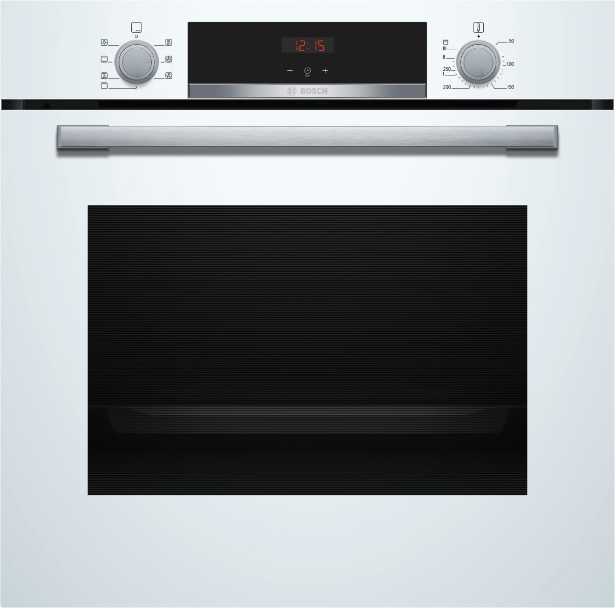 Bosch HBA533BW1 Backofen 60 cm LED-Display5 Heizarten Polar WeißEEK: A