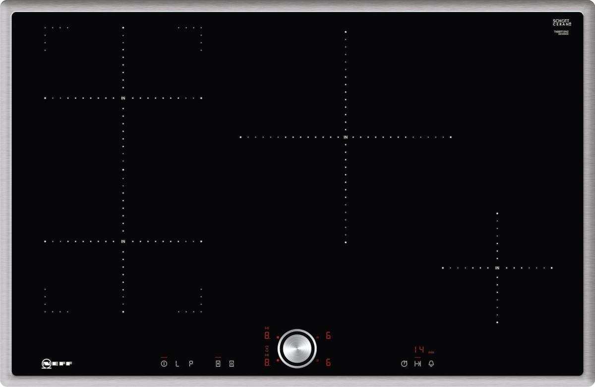 Neff TBT4813N (T48BT13N2) Induktionskochfeld 80 cmTwistPadPowerMoveEdelstahlrahmen