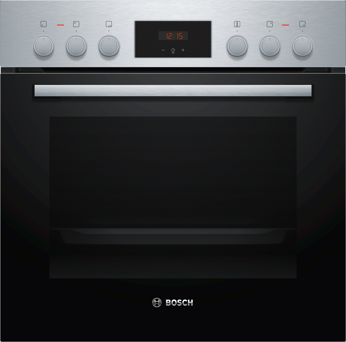 Bosch HEF113BS1 Einbauherd kochfeldgebundenEdelstahl5 HeizartenLED-DisplayElektronikuhr