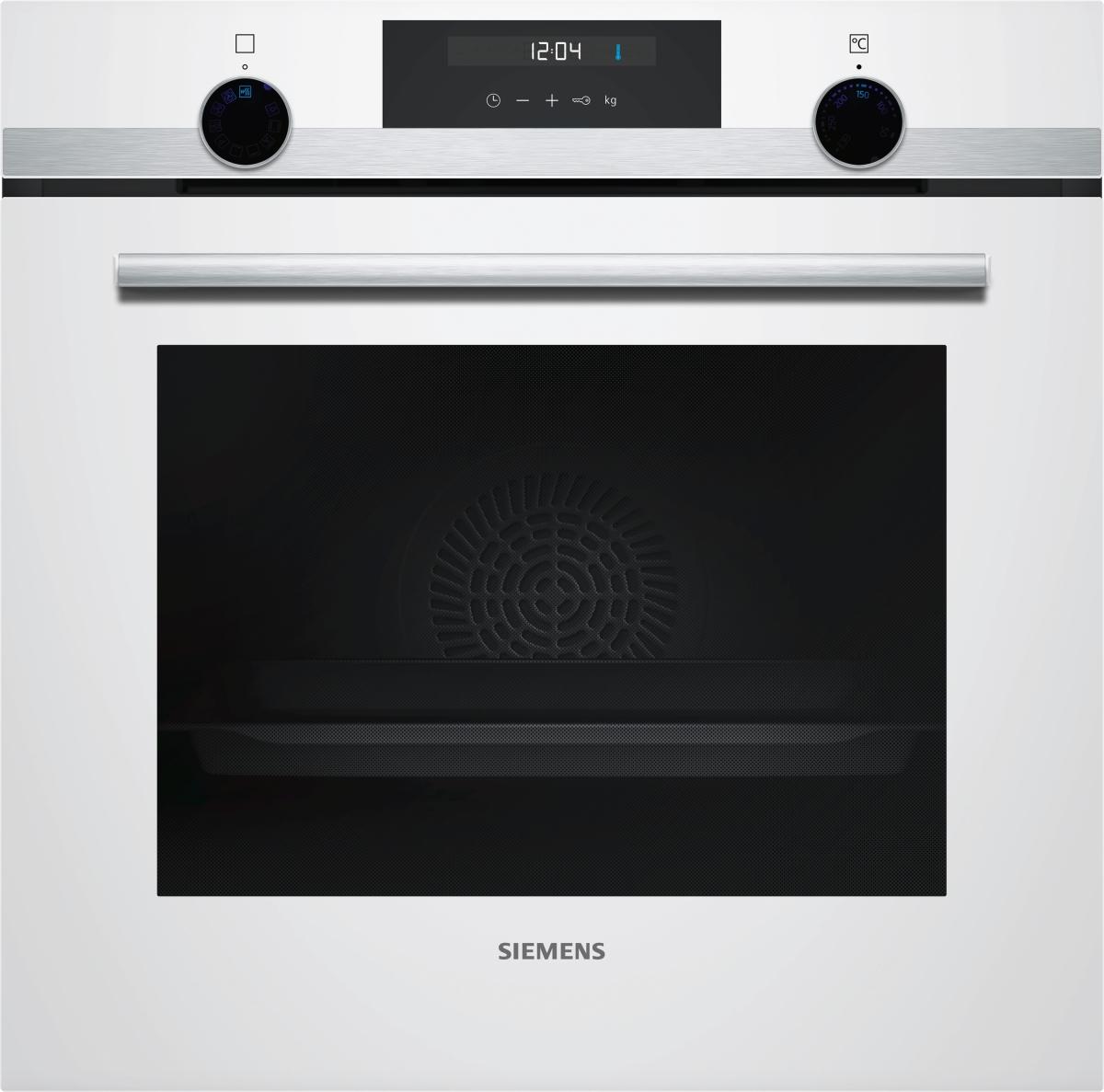 Siemens HB557GEW0W Backofen 60 cm Weiß lightControlLCD-DisplaycookControl10
