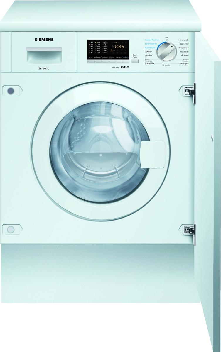 Siemens WK14D542 Einbau Waschtrockner 7 kg Waschen - 4 kg Trocknen1400 U/min