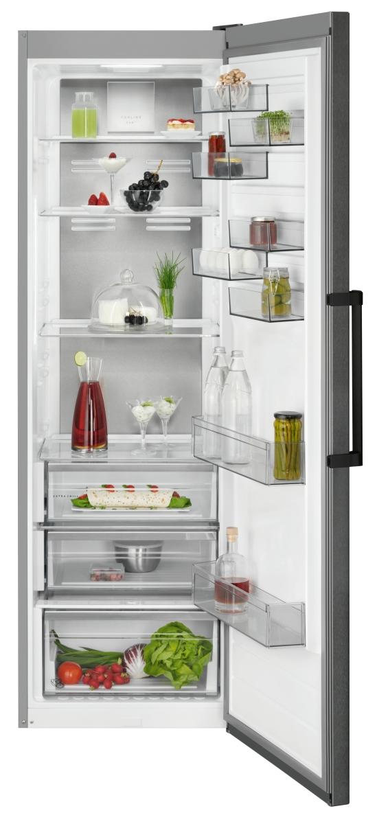 AEG RKB738E5MB Stand Kühlschrank Black Stainless SteelCustomFlexLCD-Display TwinTech CrispFresh
